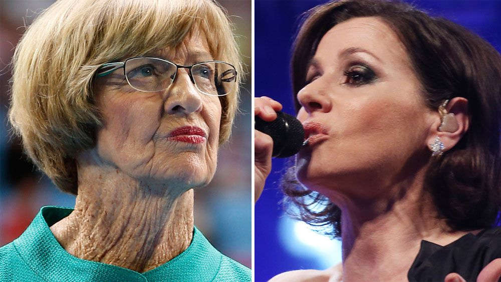 Pop icon Tina Arena lobs one at Margaret Court over same-sex marriage during Newcombe Medal presentation