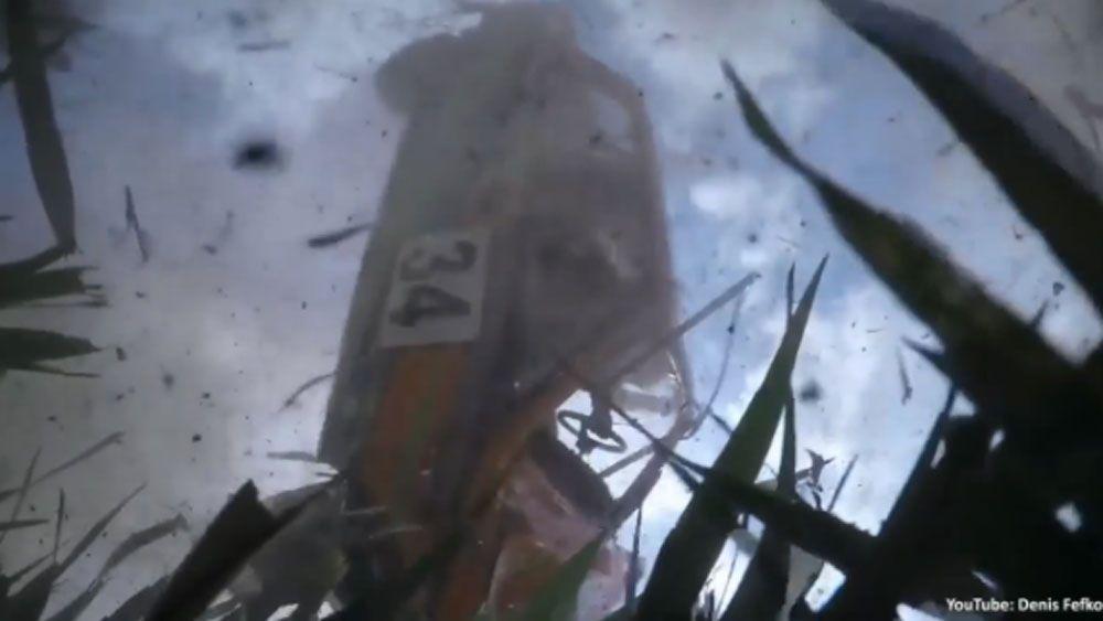 Dashcam delivers mesmerising rally crash footage