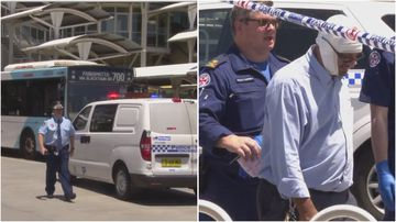 A bus driver in Sydney's west  required treatment after a passenger allegedly cut him with a knife.