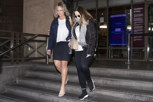 """I didn't grow up in a household where there were a lot of arguments,"" Sarah, right, told Melbourne Magistrates Court. Picture: AAP"
