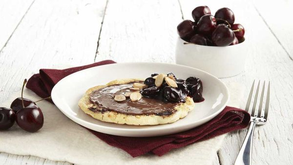 "Recipe: <a href=""http://kitchen.nine.com.au/2018/02/12/15/03/cherry-pancakes-with-nutella-recipe"" target=""_top"">Cherry pancake recipe</a>"