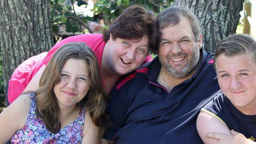 Mr Coard, with wife Kate and children Natasha and Martin.