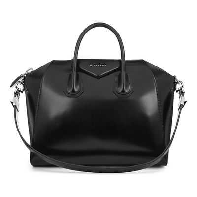 """The luxe leather tote <a href=""""http://www.cosette.com.au/bags/givenchy-antigona-medium-tote-black-leather-handbag.html"""" target=""""_blank"""">GivenchyAntigona Medium Black Leather Handbag, $2,389.</a>"""
