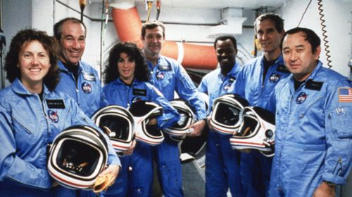 On January 28, 1986, space shuttle Challenger exploded 73 seconds after its take-off from Kennedy Space Center in Cap Canaveral, Florida; all seven were killed.