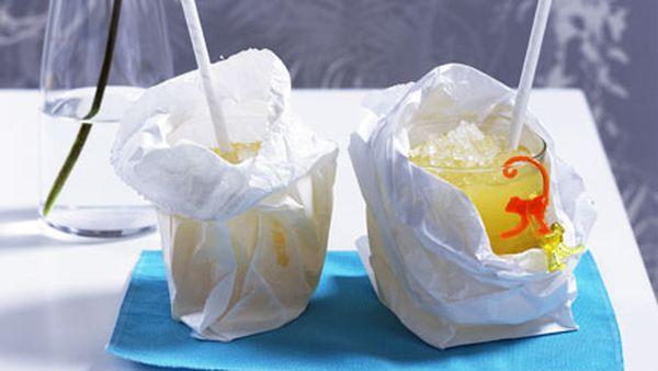 Paper Bag Mango and Pineapple Swizzle