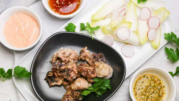 The Alatini's Octopus with Ponzu Dipping Sauce