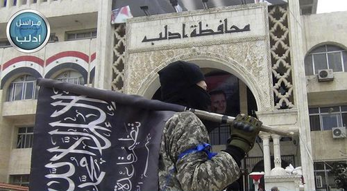 An image from the Twitter page of Syria's al-Qaida-linked Nusra Front, which will be forced to withdraw from the DMZ.
