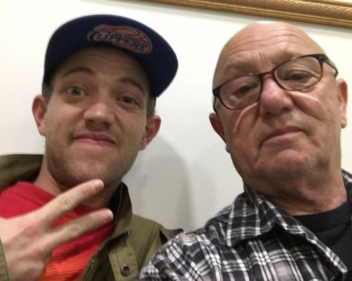 Liam Anderson with his rock icon father.