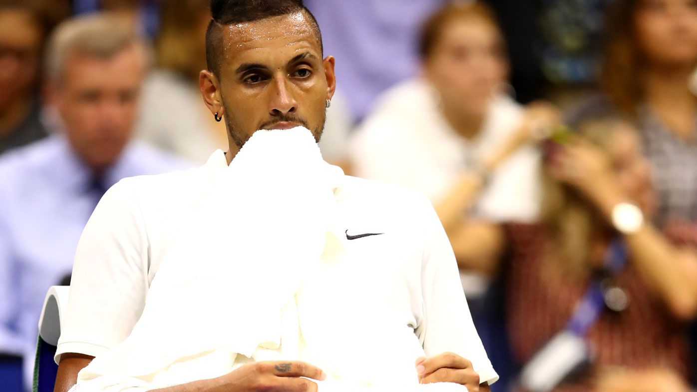 Kyrgios staring down the barrell of defeat against Rublev