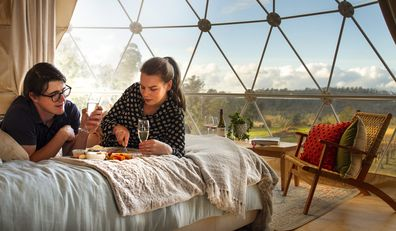 domescapes glamping in the vines