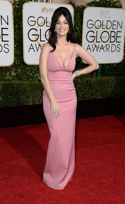 Katy Perry arrives at 73rd Annual Golden Globe Awards event on January 10, 2016 in Los Angeles, California. PHOTOGRAPH BY Barcroft Media UK Office, London.