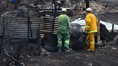 Four of the CFA volunteers lost homes in the bushfire themselves. (AAP)