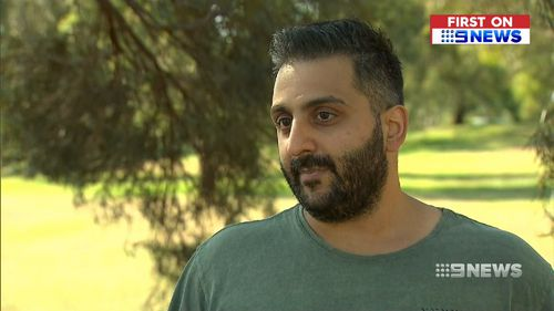 Peter Maganiotis spoke to 9News Melbourne about his ordeal.