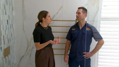 Dan and Dani in Mitch and Mark's Master Ensuite