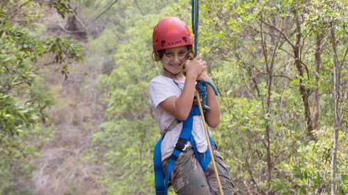 Amira went to Camp Unplugged with her mum and said since coming back she'd been doing more outside.