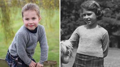 Princess Charlotte Queen Elizabeth II