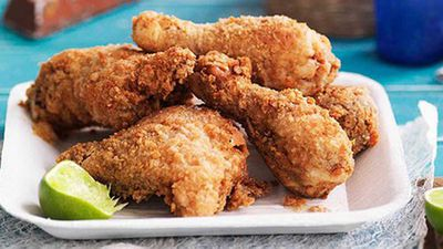 "<a href=""http://kitchen.nine.com.au/2016/05/16/18/32/crunchy-buttermilk-fried-chicken"" target=""_top"">Crunchy buttermilk fried chicken</a>"
