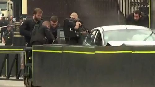 Armed police attended the scene in Westminster within minutes and dragged the man out of the vehicle.