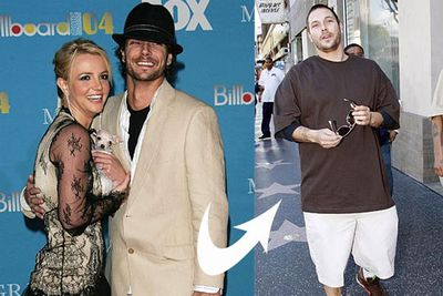 She got off to a good start with her Mickey Mouse club sweetheart and all-round nice guy Justin Timberlake, but after they broke up Britney developed quite a taste for douchebags... <br>In 2004 she married her back up dancer Kevin Federline. He was vaguely hot for while, but after hanging up his dancing shoes for a life of luxury and fast food on-tap, K-Fed turned out to be a bit of a dud. Despite reports that he was a deadbeat dad, when the pair split, Kevin won custody of the couple's two kids.