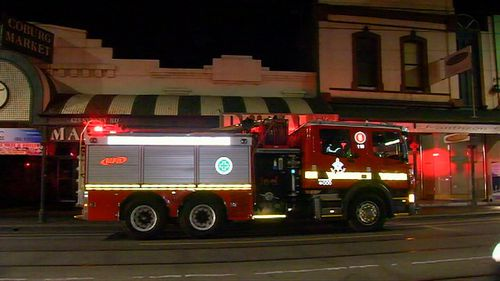 Emergency services at the scene overnight. Picture: 9NEWS
