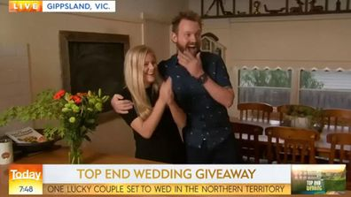 Couple left shocked after winning wedding on Today