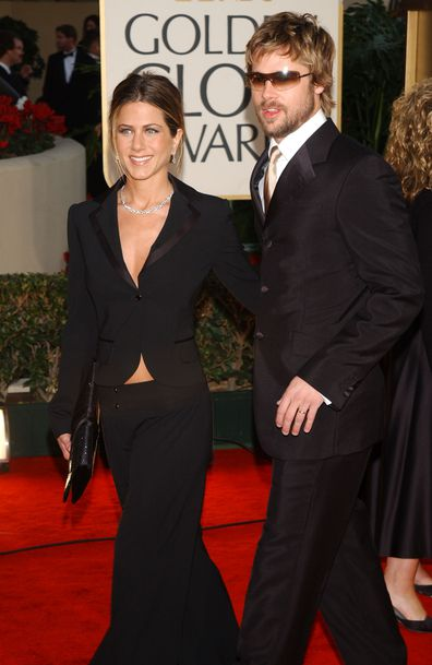 Jennifer Aniston & Brad Pitt arriving for the Golden Globe Awards