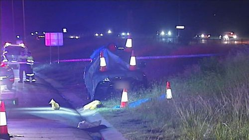 The alleged assault occurred on the M1 between Yatala and Pimpama. (9NEWS)