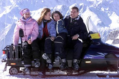 Princess Beatrice heli-skiing Pakistan