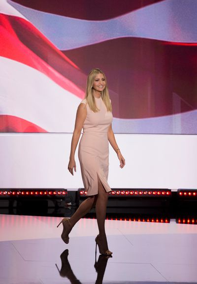 Ivanka Trump wearing one of her own designs at the Republican National Convention in Ohio, July, 2016