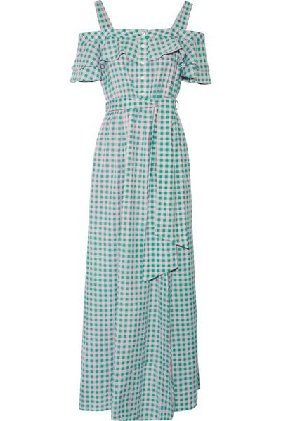 "<p>Dress like Ava</p> <p>Draper James Dolly gingham maxi dress in silk/cotton, $554.49 at <a href=""https://www.net-a-porter.com/au/en/product/842130/Draper_James/dolly-cold-shoulder-gingham-cotton-and-silk-blend-maxi-dress"" target=""_blank"" draggable=""false"">Net-a-porter</a><br> </p>"