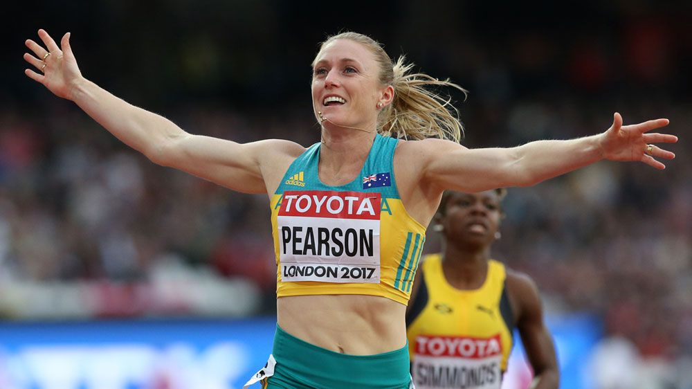 Gold medal for Pearson in hurdles at WC