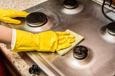 3. Buying fancy cleaners for stove tops