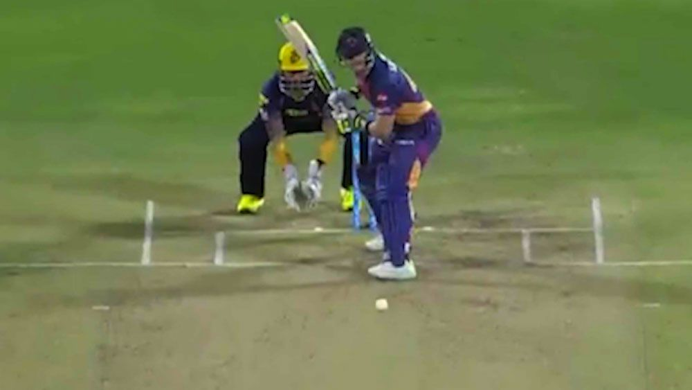 Steve Smith plays the swog for Rising Pune Supergiant during loss to Kolkata Knight Riders in IPL