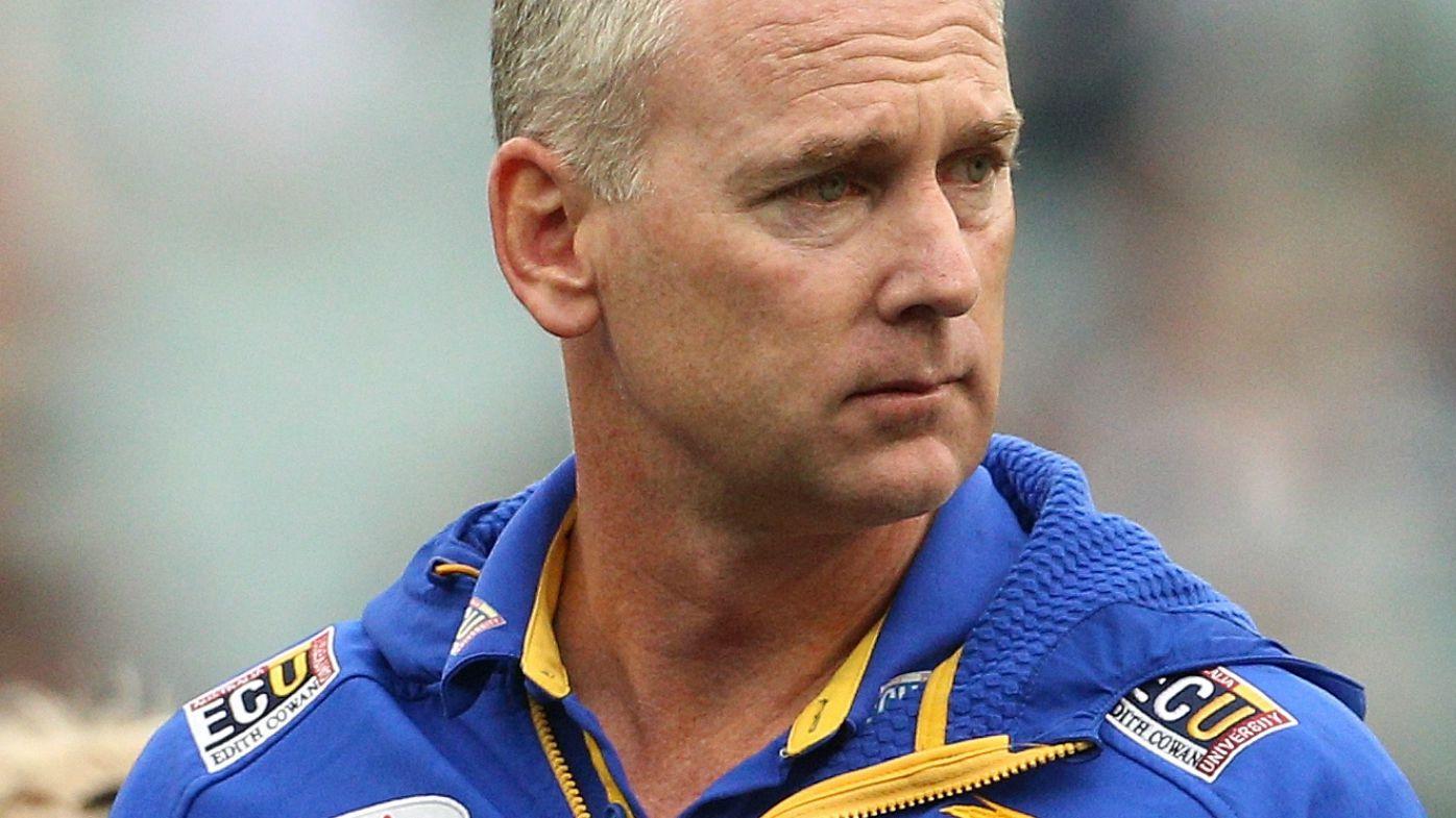 West Coast Eagles coach Adam Simpson