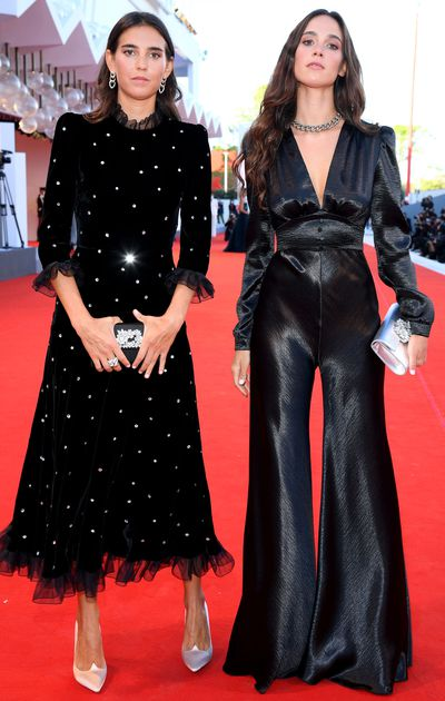 Viola and Vera Arrivabene at the opening ceremony of the 2020 Venice Film Festival.