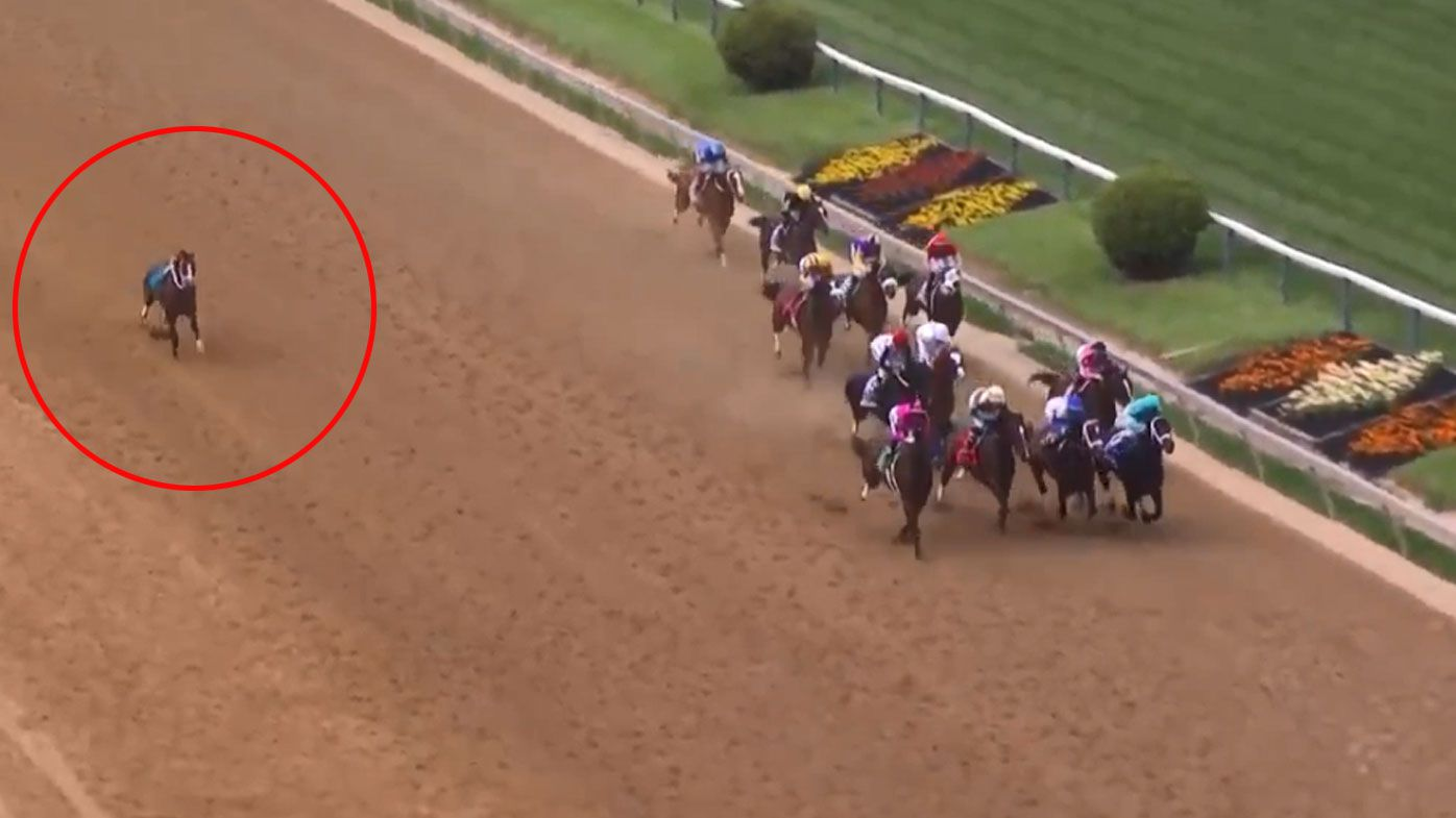 Bodexpress completes The Preakness without a jockey