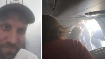 Terrifying scenes from a British Airways flight, after the cabin filled with smoke and the jet was forced into an emergency landing.