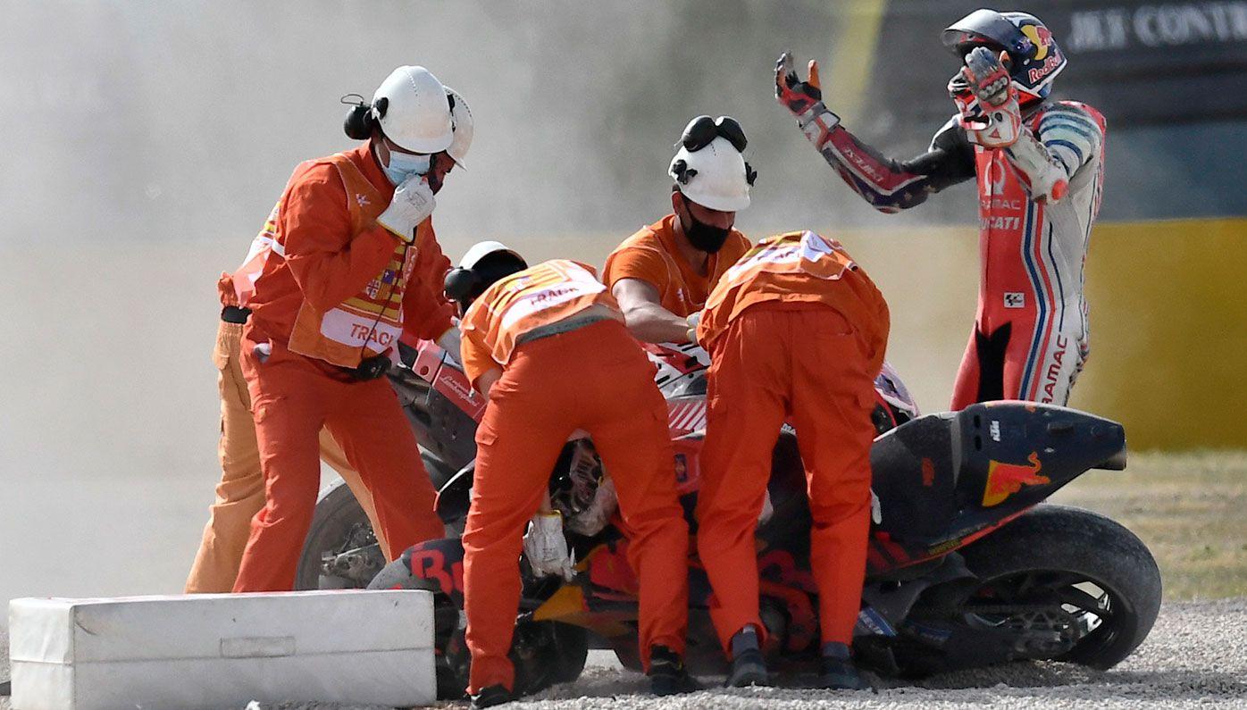 Jack Miller take out in first lap crash at Teruel MotoGP