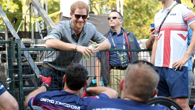 Prince Harry at the Invictus Games, September 2017