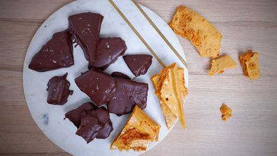 Homemade honeycomb is a sweet tooth's delight