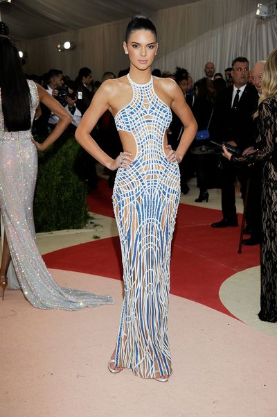 Kendall Jenner in Versace at the 2016 Met Gala.