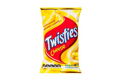 Cheese Twisties: at least 524kj/125 calories
