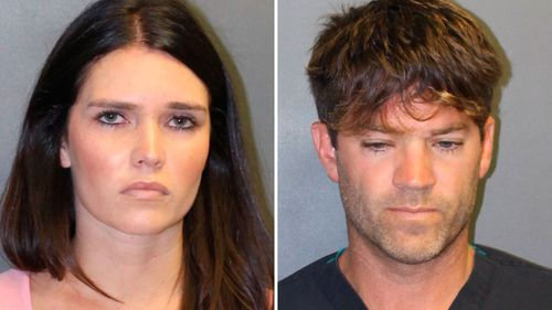 Police mugshot photos of Grant W. Robicheaux and Cerissa Laura Riley.