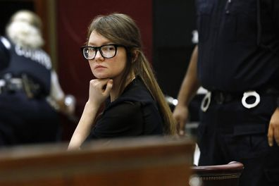 Anna Sorokin, who claimed to be a German heiress, sits at the defense table during jury deliberations in her trial.