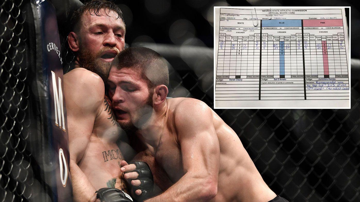UFC 229 scorecard