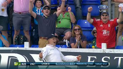 Joe Root celebrates victory