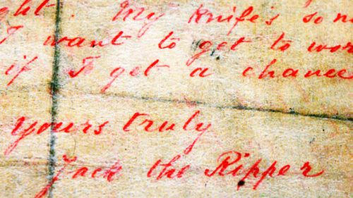 A letter allegedly written by Jack the Ripper and sent to a London news agency in 1888 came to light 10 years ago.