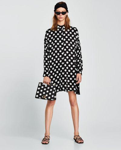 "<a href=""https://www.zara.com/au/en/polka-dot-dress-p01639057.html?v1=5655734&v2=1010034"" target=""_blank"" draggable=""false"">Zara polka dot dress</a>, $99.00"