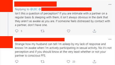 over half of women report being sexually assault by their partner in their sleep.