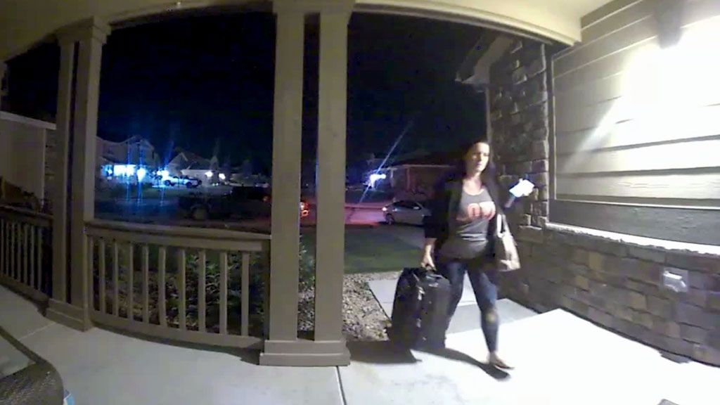 Newly released video shows Chris Watts' pregnant wife moments before her death